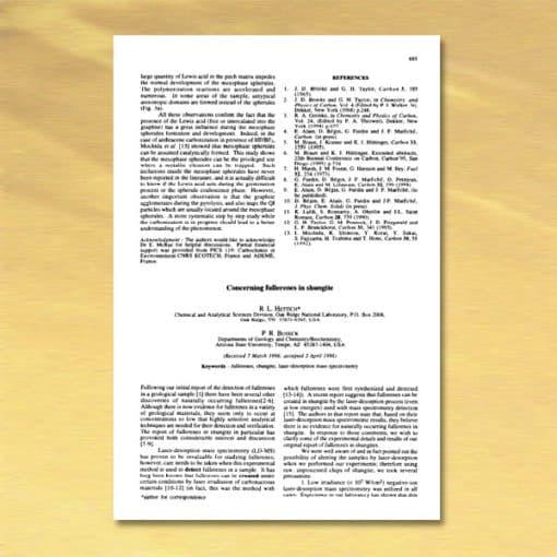 1996 Concerning fullerenes in shungite - Buseck